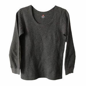 Hanes Grey Thermal Long Sleeve Small